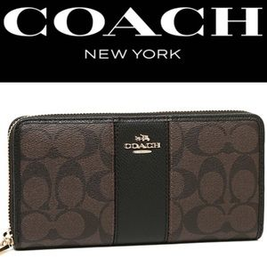 Coach Women's wallet: Signature Coated Canvas
